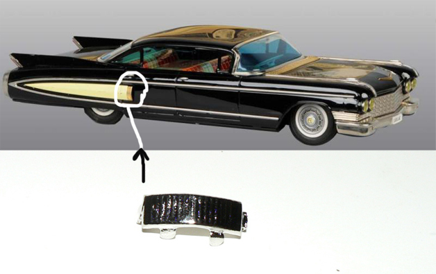 CADILLAC 1960 SIDE AIR TRIM