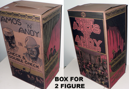 AMOS and ANDY BOX FOR 2 FIGURES '' RARE ''