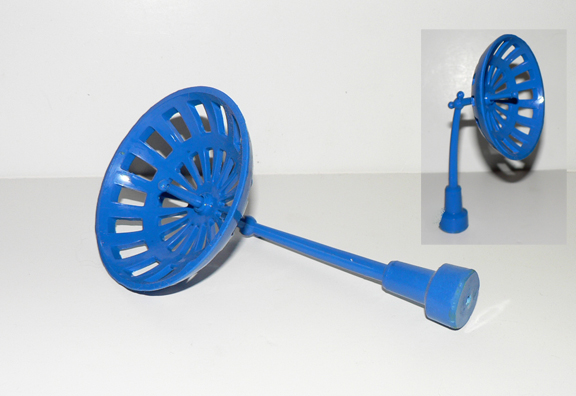 RADAR ANTENNA for space ship ( blue colors )