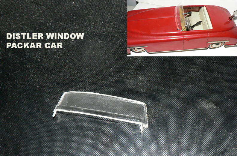 WINDSHIELD FOR DISTLER CAR ( rare piece )