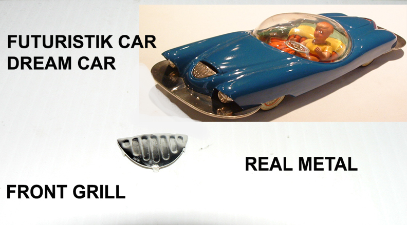 FUTURISTIK CAR ( DREAM CAR ) FRONT GRILL metal