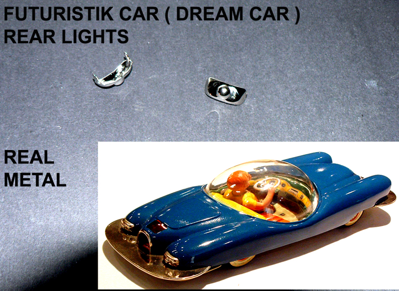 FUTURISTIK CAR ( DREAM CAR ) REAR LIGHTS metal