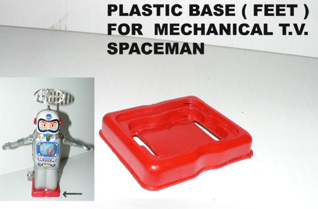 MECHANICAL TV SPACEMAN'' red plastic feet''