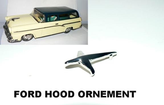 FORD HOOD ORNEMENT (12 inch station wagon )