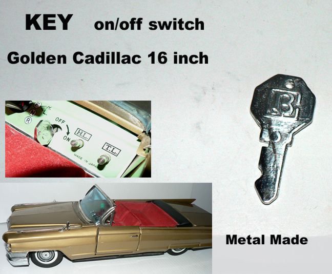 KEY (on/off) for GOLDEN CADILLAC 17inch
