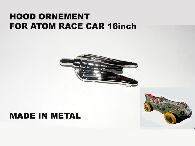 ATOM RACE CAR 16 inch '' Odd Hornement ''