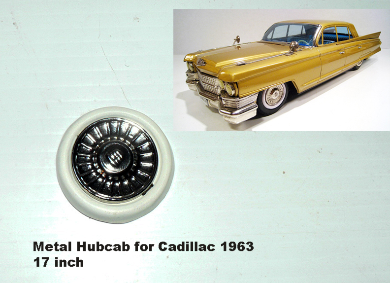 2 HUBCAPS FOR CADILLAC1963 17inch