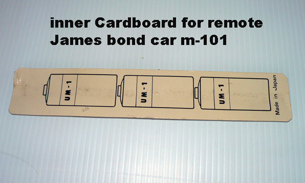 INNER CARDBOARD FOR REMOTE CONTROL 3 BATTERY