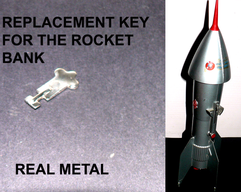 KEY FOR ROCKET BANK FROM 50's metal