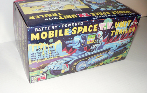 MOBILE SPACE TV UNIT with trailer ( rare box )