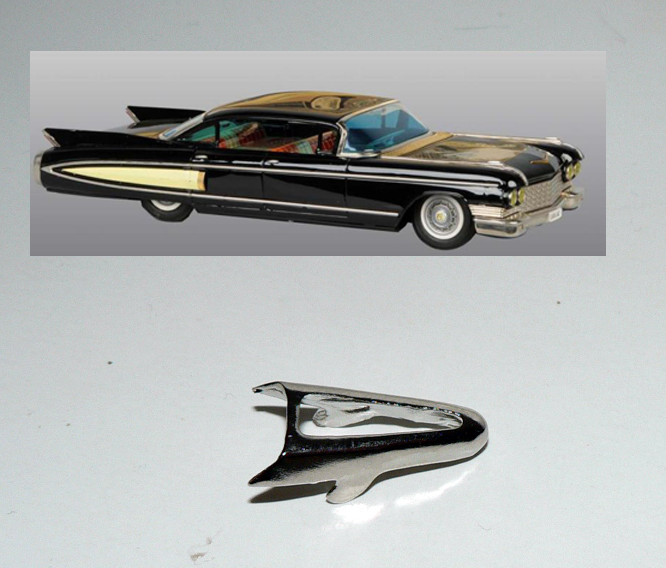 CADILLAC 1960 REAR CONTOUR LIGHT FIN