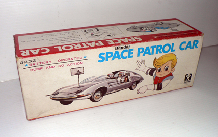 SPACE PATROL CAR Bandai( rare box )
