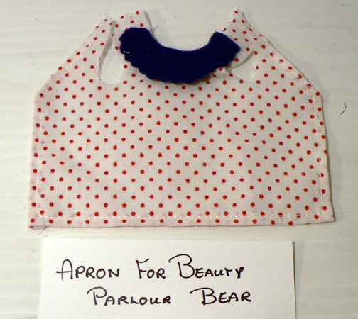 re-placement,..''APRON FOR BEAUTY PARLOR BABY BEAR''