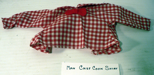 new re-placement,..''MAN CHEF COOK SHIRT''