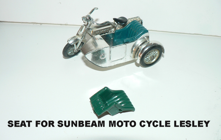 MATCHBOX SEAT FOR MOTOTCYCLE & SIDE CAR